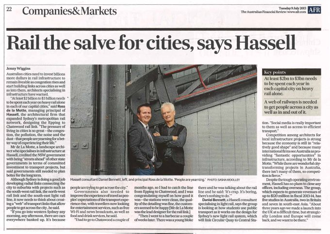 130709 Financial Review HASSELL